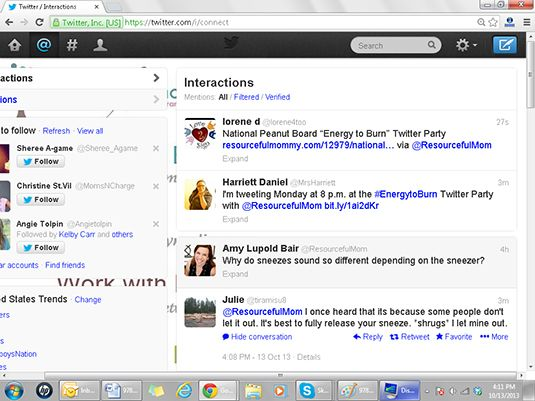 A função de pesquisa no Twitter permite-lhe encontrar conversas existente em torno de temas que INTERES