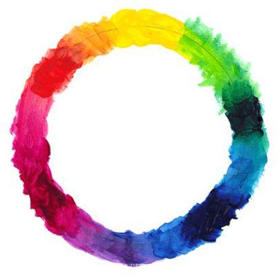 ���� - Usando uma roda de cor ao misturar tintas acrílicas