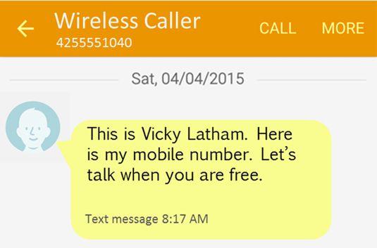 ���� - Adicionar um contato a partir de um texto sobre o Galaxy S6