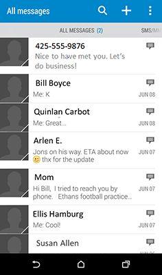 ���� - Adicionando um contato a partir de um texto em seu HTC One (M8)