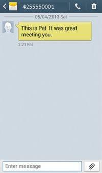 ���� - Adicionando um contato com o Samsung Galaxy S 5 a partir de um texto