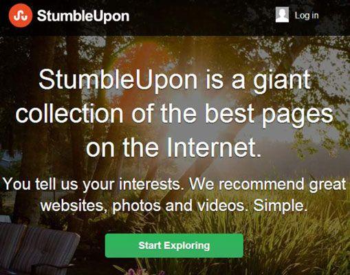 ���� - Noções básicas de StumbleUpon