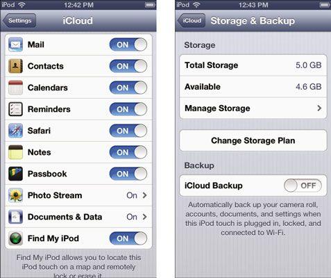 ���� - Benefícios do iCloud para seu iPod