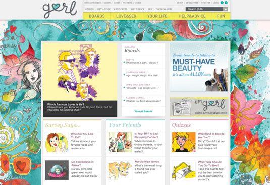 gURL.com é um site muito pegajoso. [Crédito: Cortesia de liga MÍDIA + MARKETING]