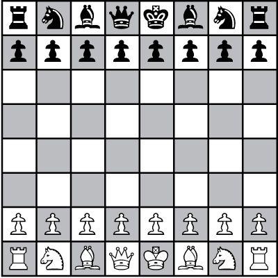 ���� - Configurar o seu tabuleiro de xadrez