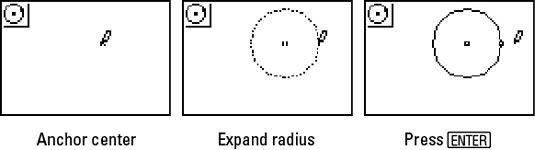 ���� - Construir Círculos em Cabri Jr. na TI-84 Plus