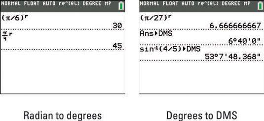 ���� - Converter entre Graus e DMS com a calculadora TI-84 Plus