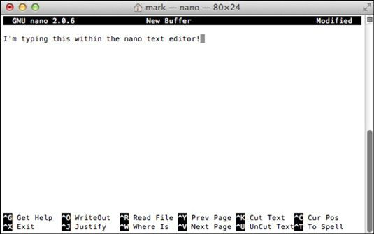 ���� - Criar novos documentos com UNIX em seu MacBook