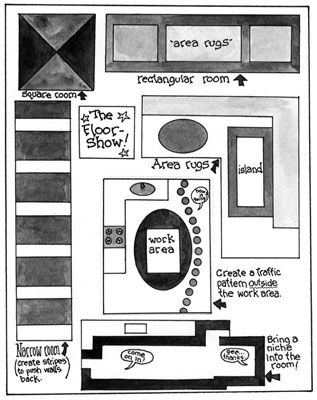 Para remodelar espaços inábeis, use materiais de revestimento para criar desenhos.