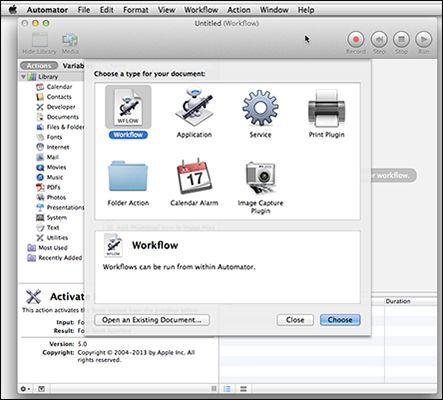 ���� - Fazer menos, fazendo mais com Mac Automator