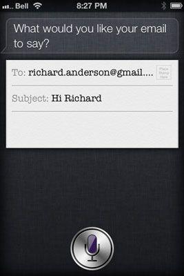 ���� - Tarefas e-mail Siri pode fazer por você
