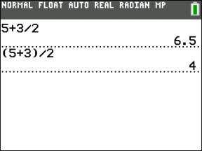 ���� - Avaliar expressões aritméticas com a calculadora TI-84 Plus
