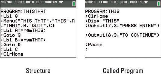 ���� - Executa um programa externo como uma sub-rotina na TI-84