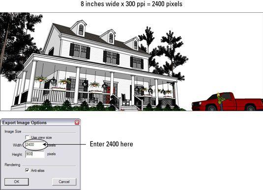 ���� - Exportando Google SketchUp 8 Imagens para impressão