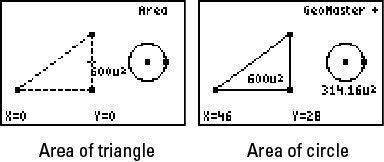 ���� - Encontrar a área com Geomaster na TI-84 Plus