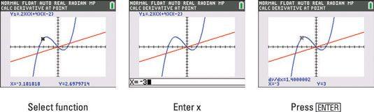 ���� - Encontrar a inclinação de uma curva com a TI-84 Plus