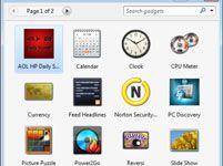 ���� - Para Idosos: Adicionar the Clock Gadget na área de trabalho do Windows