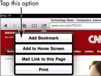 ���� - Para Idosos: marcador de páginas da Web favoritos em iPad 2 Safari