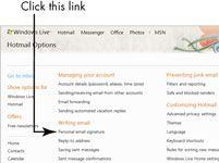 ���� - Para Idosos: criar assinaturas personalizadas para o Microsoft Live Hotmail