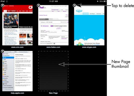 ���� - Para Idosos: exibir páginas da Web em miniatura no iPad 2