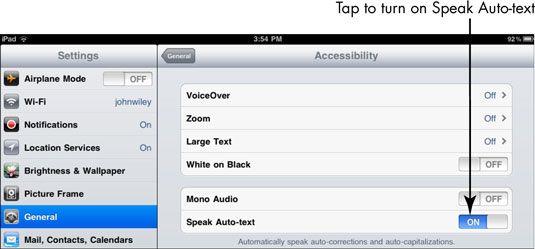 ���� - Para Idosos: Obter Ajuda ler texto no iPad 2