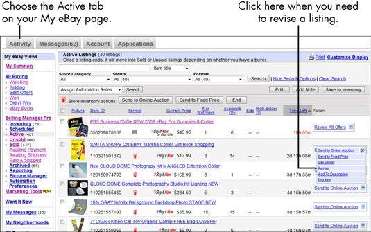 ���� - Para Idosos: Como corrigir a atual eBay Listing
