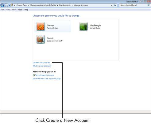 ���� - Para Idosos: Como criar uma nova conta de usuário em seu computador