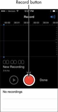 ���� - Para Idosos: Como gravar notas de voz em seu iPhone 6