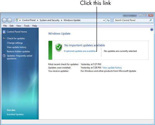 ���� - Para Idosos: Como executar o Microsoft Windows Update