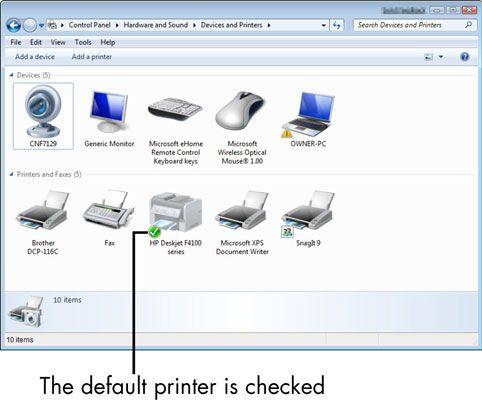 ���� - Para Idosos: Como configurar uma impressora padrão