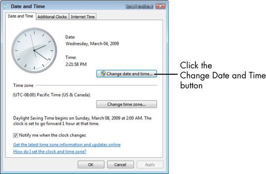 ���� - Para Idosos: Como definir a data e hora no seu computador