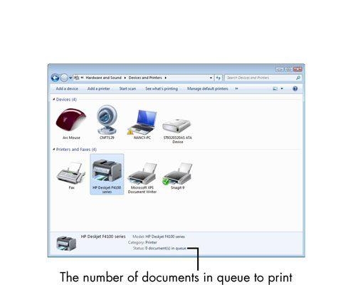 ���� - Para Idosos: Como visualizar Impressoras actualmente instalados