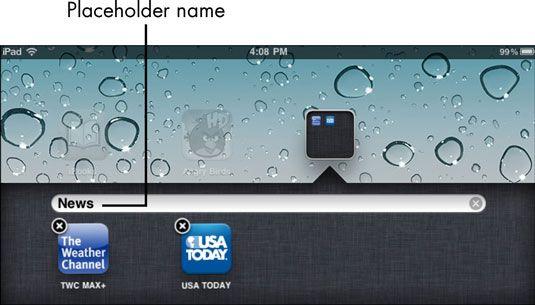 ���� - Para Idosos: Organize iPad 2 Apps em pastas