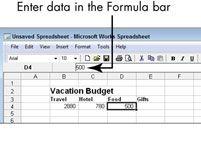 ���� - Para Idosos: executar cálculos em uma planilha do Microsoft Works