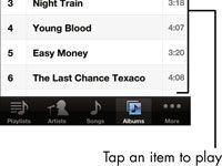 ���� - Para Idosos: Reprodução de música e outros áudios with Music App no iPhone 4S