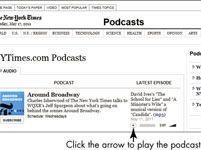 ���� - Para Idosos: Jogue Podcasts através do Internet Explorer