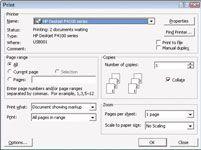 ���� - Para Idosos: Imprimir um documento do Microsoft Works