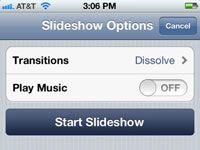 ���� - Para Idosos: Executar uma apresentação de slides no iPhone 4S