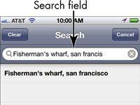 ���� - Para Idosos: procurar locais no iPhone 4S Mapas App