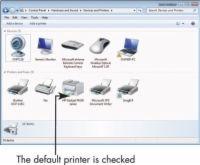 ���� - Para Idosos: definir uma impressora padrão no Windows