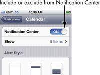 ���� - Para Idosos: Definir tipos de notificação no iPhone 4S