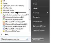 ���� - Para Idosos: iniciar um programa Windows em um Laptop