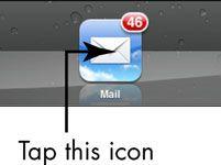 ���� - Para Idosos: Mensagens Ver e-mail no iPad 2