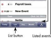 ���� - Para Idosos: Ver seu calendário no iPhone 4S