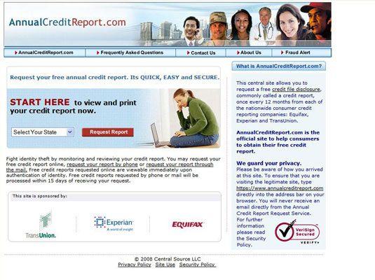 ���� - Obter cópias de seus relatórios de crédito