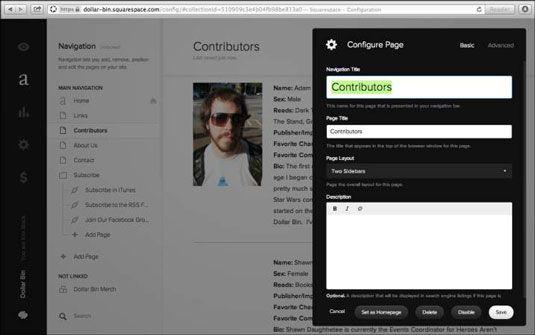 ���� - Como adicionar e excluir páginas do seu site de navegação na Squarespace