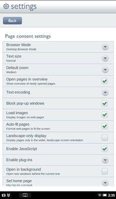 ���� - Como ajustar o tipo de tamanho na sua Nook Tablet Web Browser