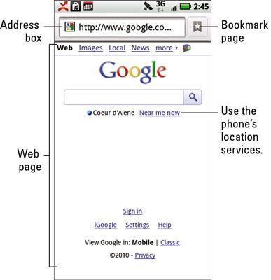 ���� - Como navegar na Web em seu Droid X