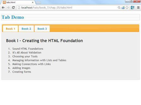 ���� - Como construir uma interface com abas em AJAX para HTML5 e CSS3 Programação
