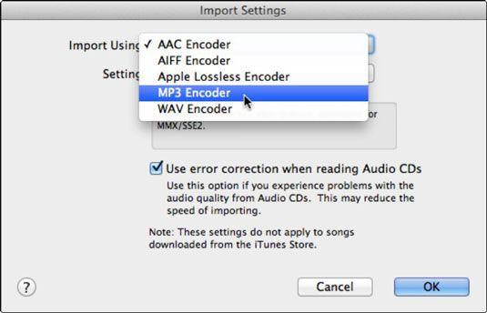 ���� - Como alterar as preferências de importação e configurações no iTunes